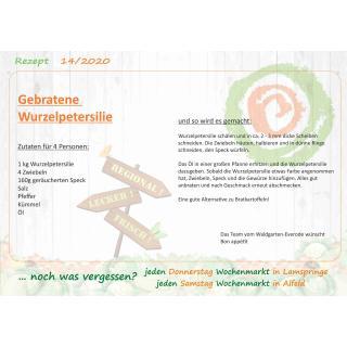 Rezept Gebratene Wurzelpetersilie