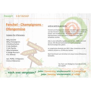 Rezept Fenchel-Champignons-Ofengemüse