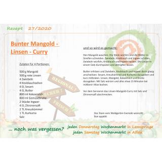 Rezept Bunter Mangold - Linsen - Curry
