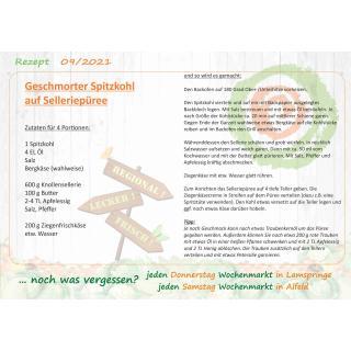 Rezept Geschmorter Spitzkohl auf SelleriePüree